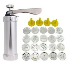 Cookie Press Machine Biscuit Maker Cake Making Decorating Set 20 Molds 4 Nozzles