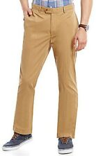 Cremieux Mens New Flat Front Twill Chino Pants 38 38w 38x32 L Large Chino Brown