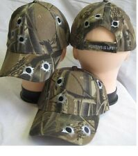 CAMO HUNTING IS LIFE BASEBALL HAT CAP W EMBROIDERED BULLET HOLES ADJUSTABLE