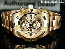 Invicta 45mm Sea Specialty Chronograph Rose Dial Rose Gold Ion Plated SS Watch