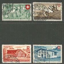 Switzerland 1946 Confoederatio Helvetica Semipostal (B154-57) fine used