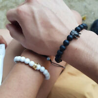 Couple King Queen Crown Bracelets His And Her Friendship Hand Knitting Bracelets
