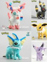 "8""Pokemon Center Evolution of Eevee Umbreon Espeon Sylveon Plush Toy Soft Doll"