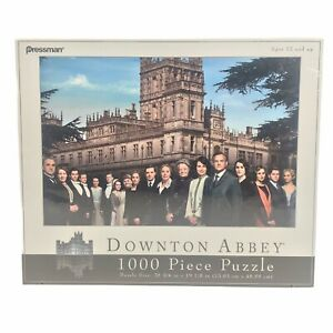 "Downton Abbey 1000 Piece Jigsaw Puzzle Pressman 28""X19"" Castle & Cast - NEW"