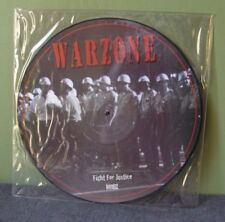 """Warzone """"Fight For Justice"""" Pic Disk LP OOP Cro-Mags Agnostic Front Judge"""