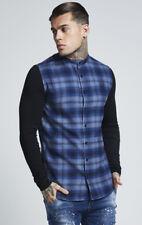 Mens Sik Silk Designer Long & Short Sleeve Slim Fit Fashion Casual Smart Shirt