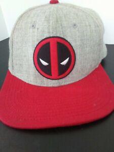 Marvel Baseball Hat - Deadpool Black Grey OSFM