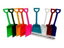 9 Toy Sand Shovels 1 ea 9 Colors & I Dig You Stickers Made in USA Lead Free *