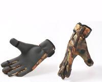 Fishing Gloves Neoprene Camo, Folding Fingers, Hunting, Shooting, M,L & XL