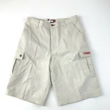 Mens NWT Tommy Hilfiger Lt Beige Spell-out Full Fit Surplus Shorts Sz 33 AS IS