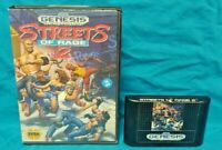 Streets of Rage 2 - CIB Sega Genesis Working - Box, Cover Art, Game Rare Tested