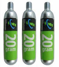 3 pack Genuine Innovations Co2 20g Threaded Refill Cartridges Bike 3 Inflators