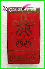 Pin's pins Badge Coca Cola Jeux Olympique Calgary 1988 #H3