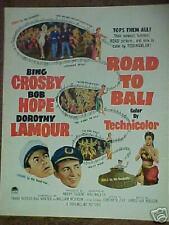 ROAD TO BALI HOPE,CROSBY,LAMOUR MOVIE PRINT ~1953~ AD