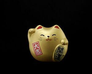 Manekineko Katze Japanischer Glücksbringer Japan Maneki Neko Golden 176