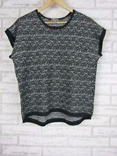SUSSAN Knit Top Sz L, 14 Black, Gray Fleck