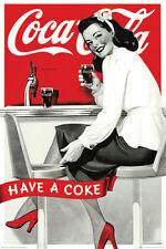 #Z61 Coca Cola Vintage Ad Style Poster 24x36