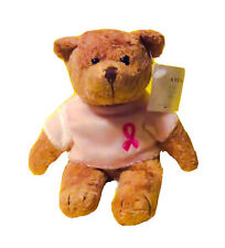 "AVON BREAST CANCER BEAR W/TAGS 6.5"" BEANBAG PLUSH"