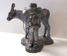 MICHAEL RICKER PEWTER FARM KIDS YOUNG COWBOY w/ CALF 885/2500 SIGNED