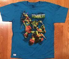 #308 Ninja Turtle Boys Size Large Tuquoise Short Sleeve T-Shirt Leo