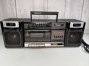 Vintage Sony CFS-1000 Cassette AM FM Radio Stereo Boombox, Tested Works Great