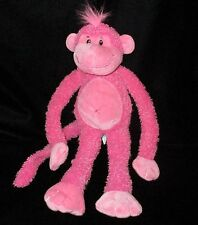 "Fiesta Jeremy Pink Monkey Plush Soft Toy Stuffed Hanging 13"" Animal C10801"