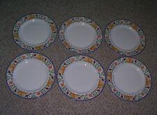 """6 DANSK FIANCE FRUITS 11"""" DINNER PLATES"""