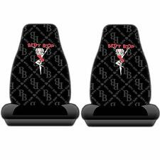 2PC BETTY BOOP Chain link BLACK BUCKET SEAT COVERS