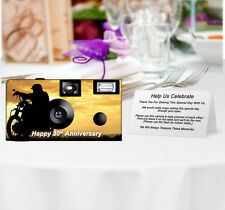 20 Motorcycle Disposable Cameras-Personalize-weddi ng camera/anniversary