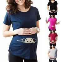 Funny Pregnant Baby Girl Pregnancy Women short Sleeve T-Shirt Newest