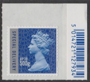 z3962) Great Britain - Machins 2014 MNH  SG u3052 SD 500g M14L. Barcode Tab