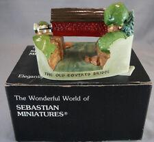 Vtg Sebastian Miniatures Figure With Box 1996 Old Covered Bridge #6253
