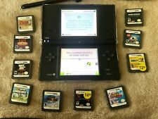 Nintendo DS Lite Handheld Console - Onyx Black With Games And Case