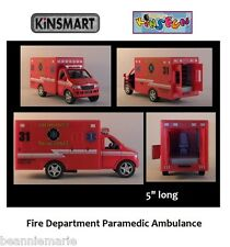 "Kinsmart - Kinsfun Rescue Team Fire Dept Padamedic Ambulance  1:43 ? 5"" # 5259D"
