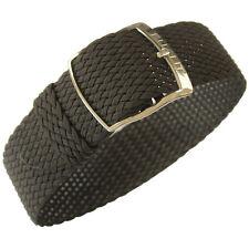 20mm EULIT Panama Brown Tropic Woven Nylon Perlon German Made Watch Band Strap