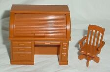 Vintage Fisher Price Little People Dollhouse Roll Top Desk & Chair Hong Kong