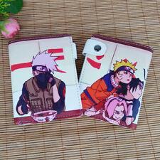 New Arrivals Anime Naruto Logo PU Leather Short Wallet Fans Gift