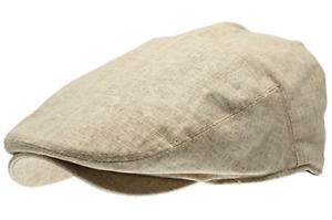 Men's Linen Gatsby Cap Flat Ivy Golf Driving Cabbie Newsboy Hat