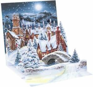 Midnight Village Pop-Up Christmas Card - Greeting Card by Up With Paper 1260GC