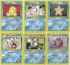 Pokemon CCG: *MISTY'S LOT* - Pokemon Gym Heroes - 6 cards