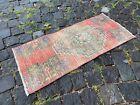Bohemian rug, Vintage small rug, Handmade wool rug, Doormats | 1,2 x 2,8 ft