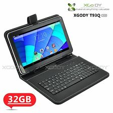 "9"" 32GB Quad Core Dual Camera Android 4.4 Bluetooth Tablet PC WIFI W/ Keyboard"