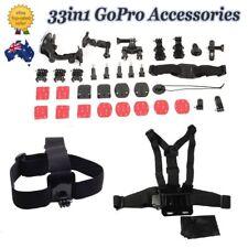 33in1 Accessories Pack Case Chest Helmet Bike Surf Ski Mount GoPro Hero 4 3+ 3 2