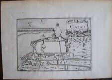 CARTE  CALAIS . Par TASSIN. Carte originale de 1633.  Dimensions de la feuille:
