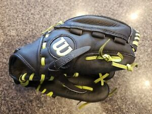 WILSON Monsta Web Black Leather Softball Glove A0440 Fast Pitch Right Hand 11""