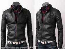 Zip Faux Leather Coats & Jackets for Men