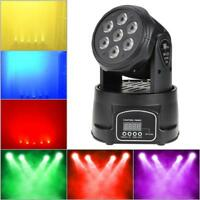 7LED Moving Laser Projector Stage R&G Light Xmas Party KTV DJ Disco Concert Lamp