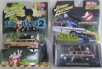 Johnny Lightning 1:64 GHOSTBUSTERS ECTO 1A - JLCP7026 & JLCP7204 - (2) Cars Set