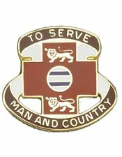 0801 Combat Support Hospital Unit Crest (To Serve Man And Country)