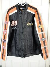 Tony Stewart Nascar Leather Jacket by Velocity, Size XL